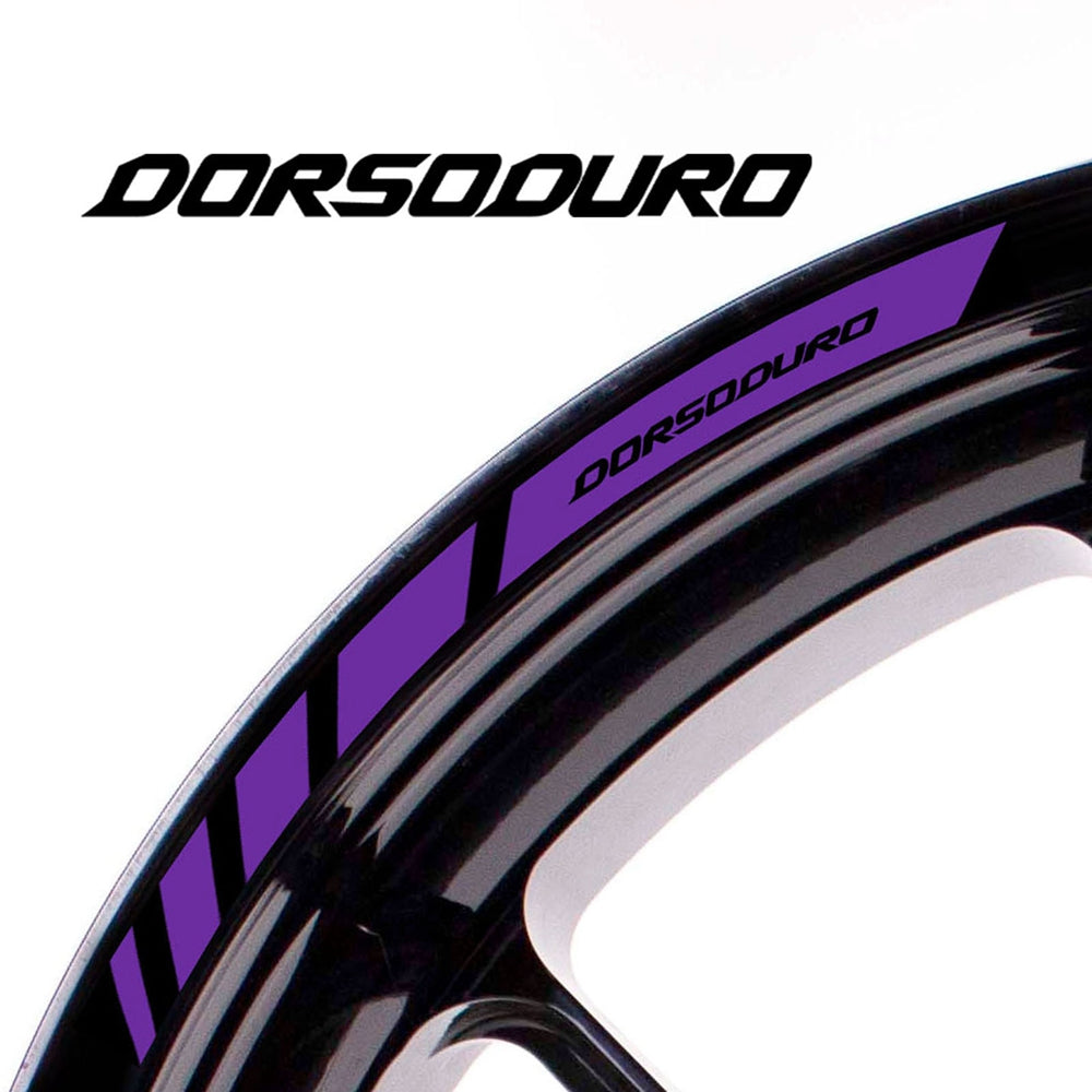 Fit Aprilia DORSODURO Logo Strips Wheel Rim Edge Sticker - MC Motoparts