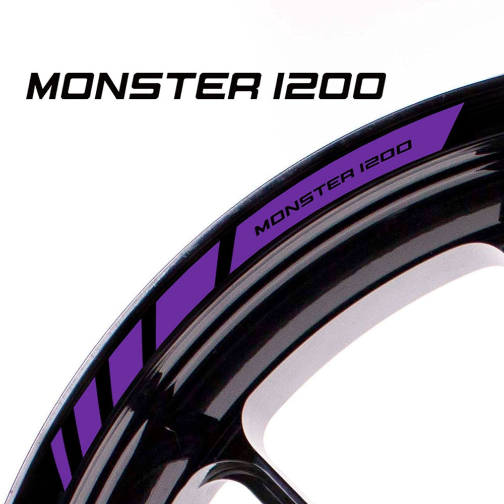 Fit Ducati MONSTER 1200 Logo Strips Wheel Rim Edge Sticker - MC Motoparts