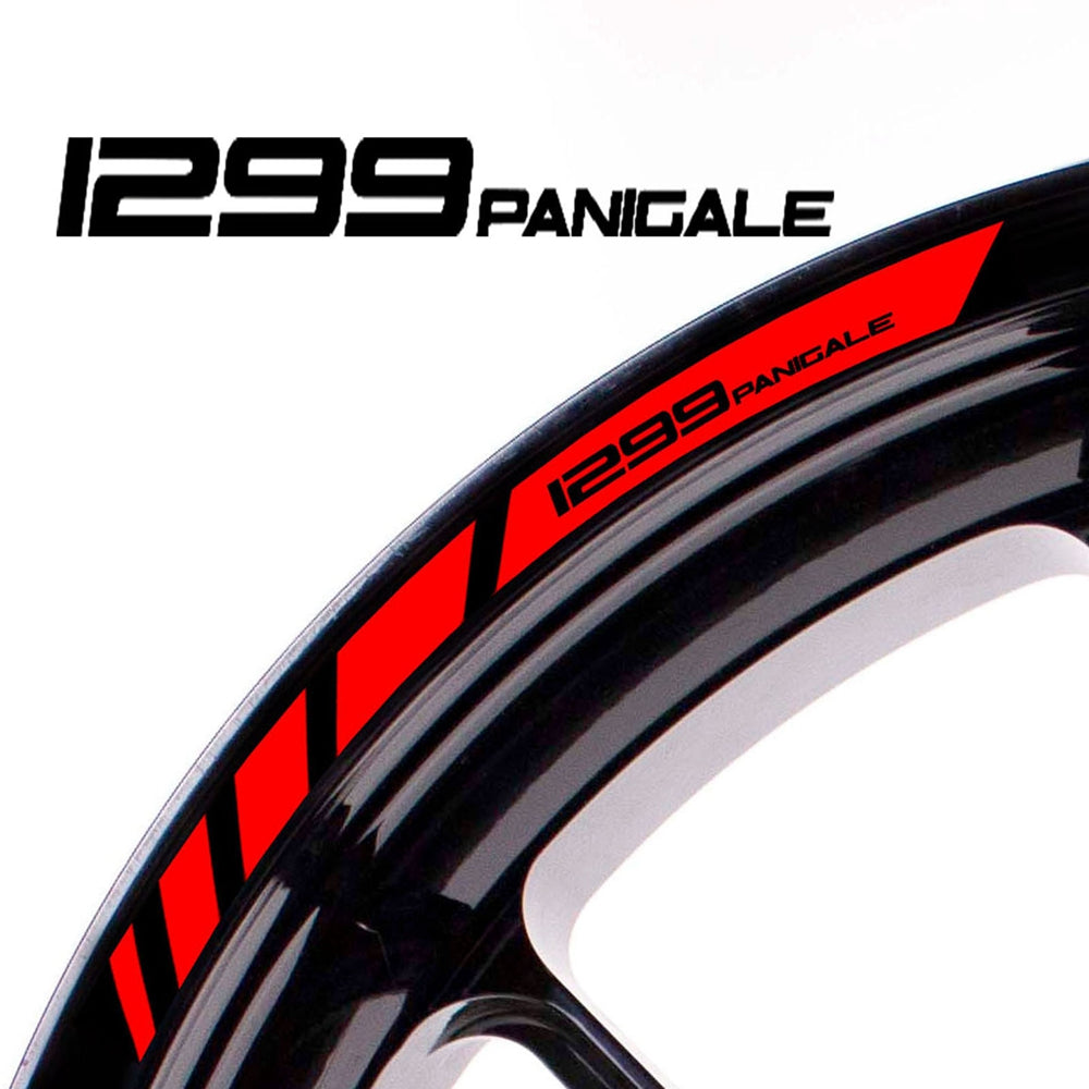 Fit Ducati 1299 PANIGALE Logo Strips Wheel Rim Edge Sticker - MC Motoparts