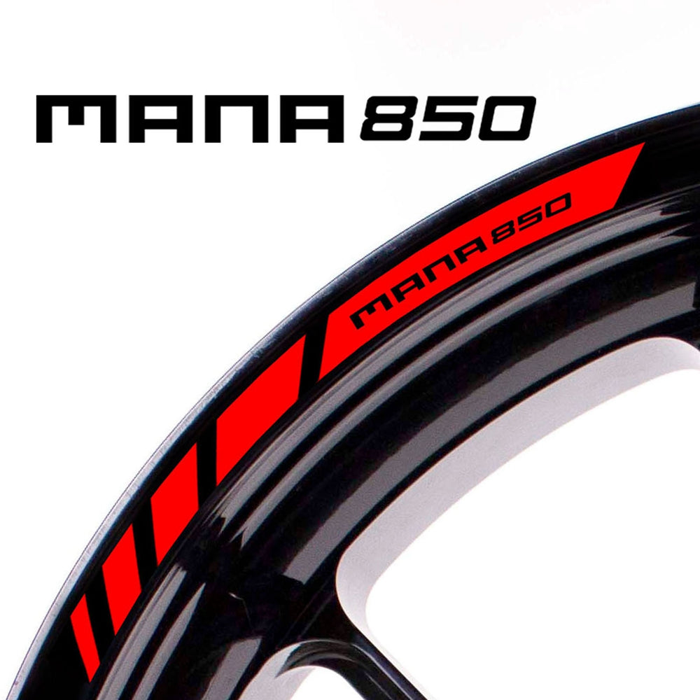 Fit Aprilia MANA 850 Logo Strips Wheel Rim Edge Sticker - MC Motoparts