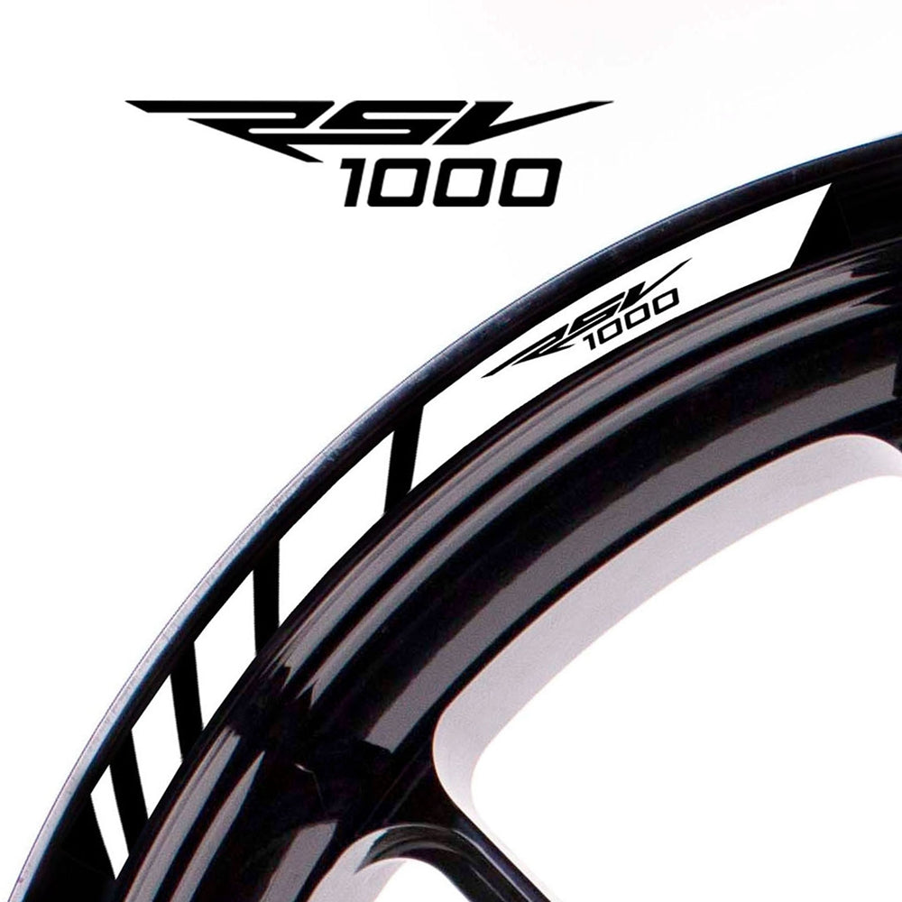 Fit Aprilia RSV1000 Logo Strips Wheel Rim Edge Sticker - MC Motoparts