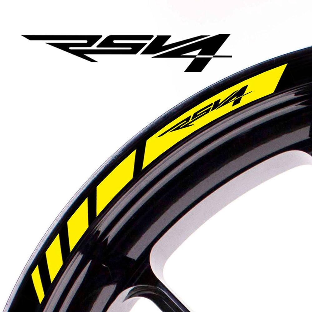 Fit Aprilia RSV4 Logo Strips Wheel Rim Edge Sticker - MC Motoparts