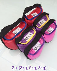 Twin Set of 3 (6) - Starter Pack - Heavy: 2 x 3kg, 5kg, 8kg Dumbags