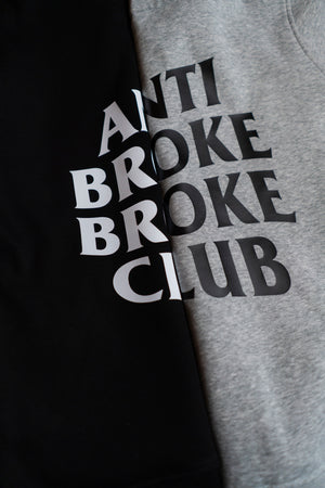 ANTI BROKE BROKE CLUB BLACK HOODIE