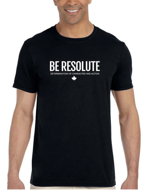 Be Resolute Graphic Tee | Resolute Clothing Co | resoluteclothingco.com | Helping vulnerable youth with every product sold