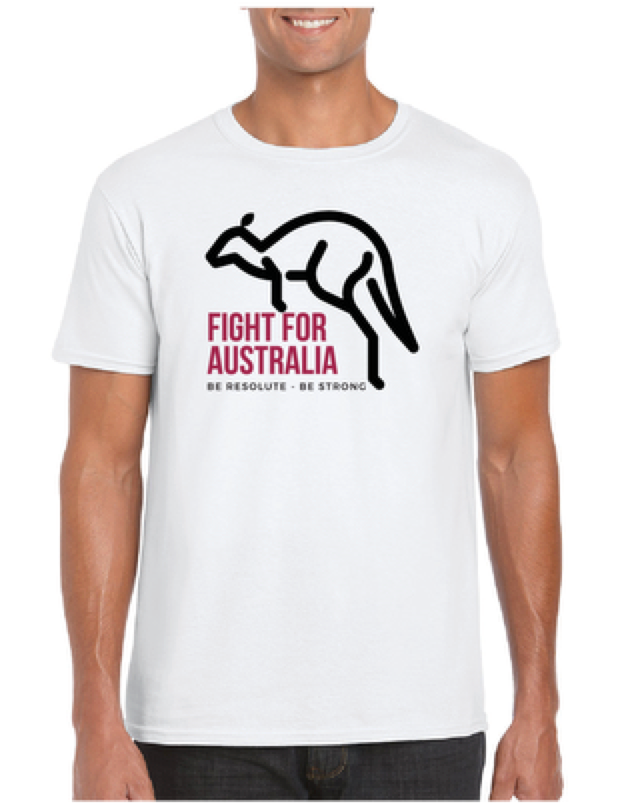 Fight For Australia Graphic Tee | Resolute Clothing Co | resoluteclothingco.com | Helping vulnerable youth with every product sold