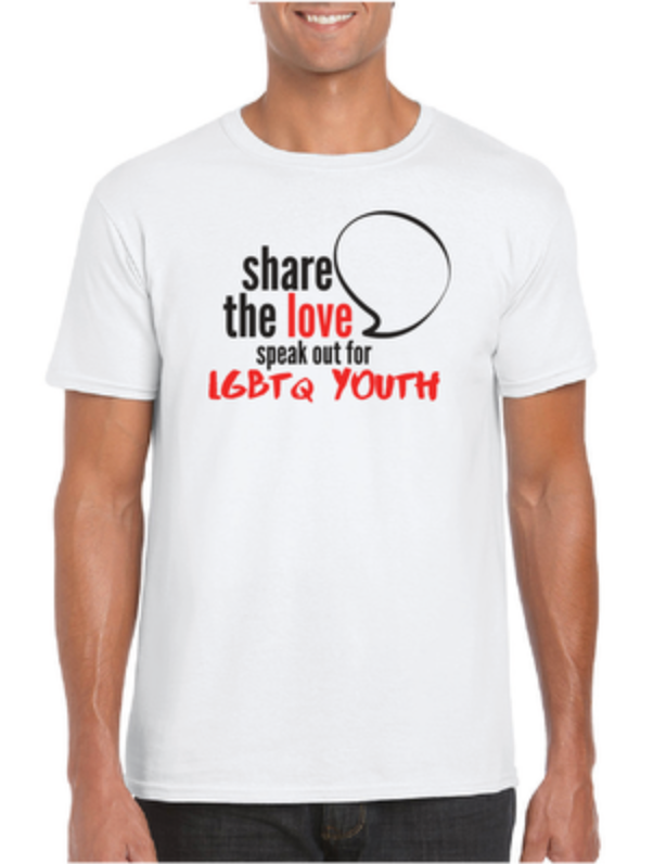 SPEAK UP FOR LGBTQ YOUTH T-Shirt - Resolute Clothing Co.