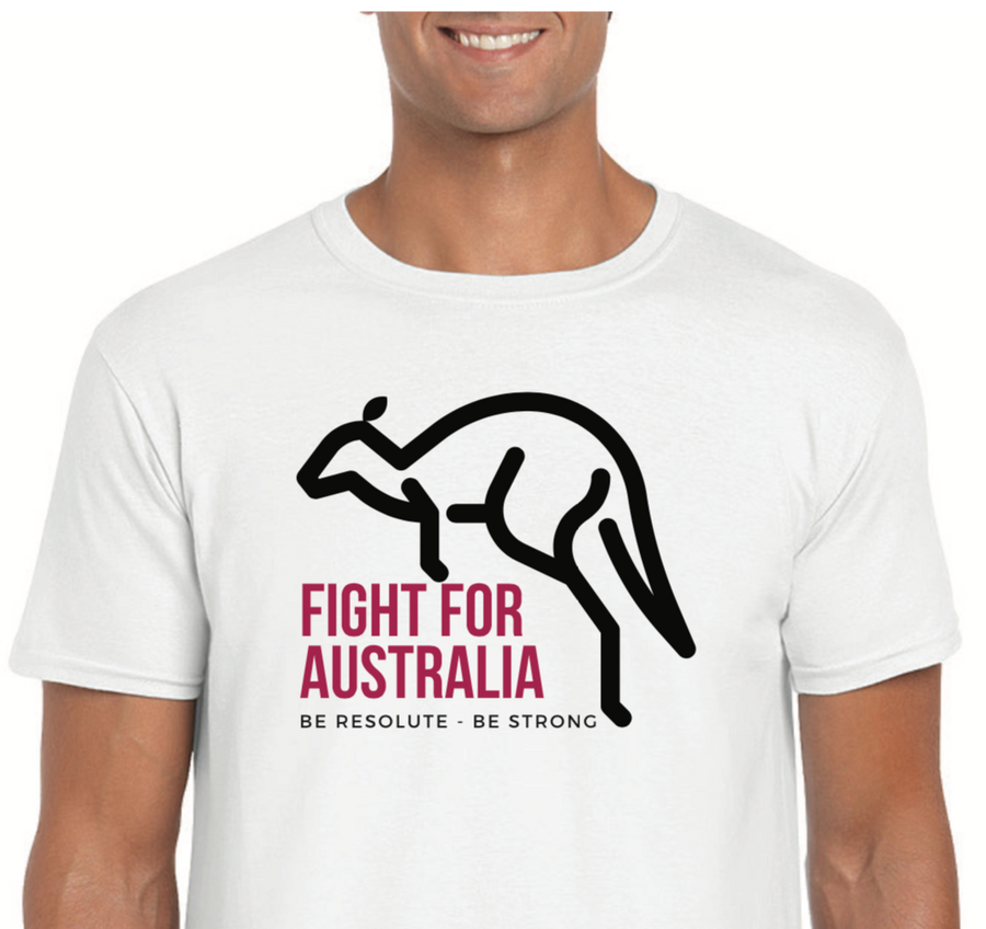 FIGHT FOR AUSTRALIA Quality Tee - Resolute Clothing Co.