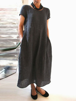 Women Shift Casual Crew Neck Dresses