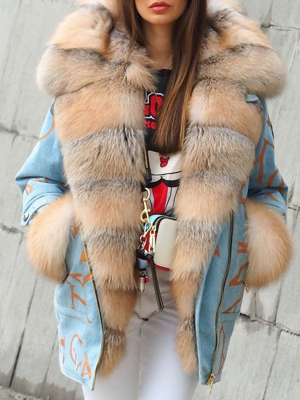 Winter Warm Fluffy Coat Faux Fur Jacket