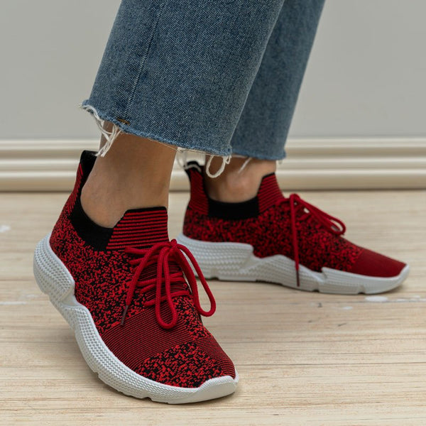 Breathable Athletic Style Lace Up All Season Sneakers