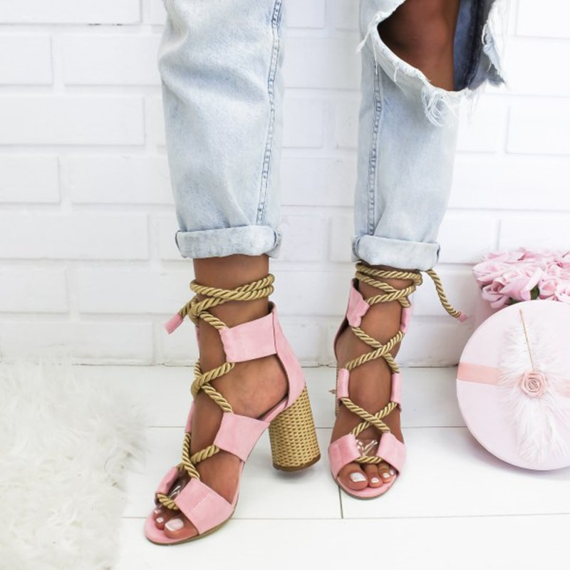 Women's casual lace-up sandals