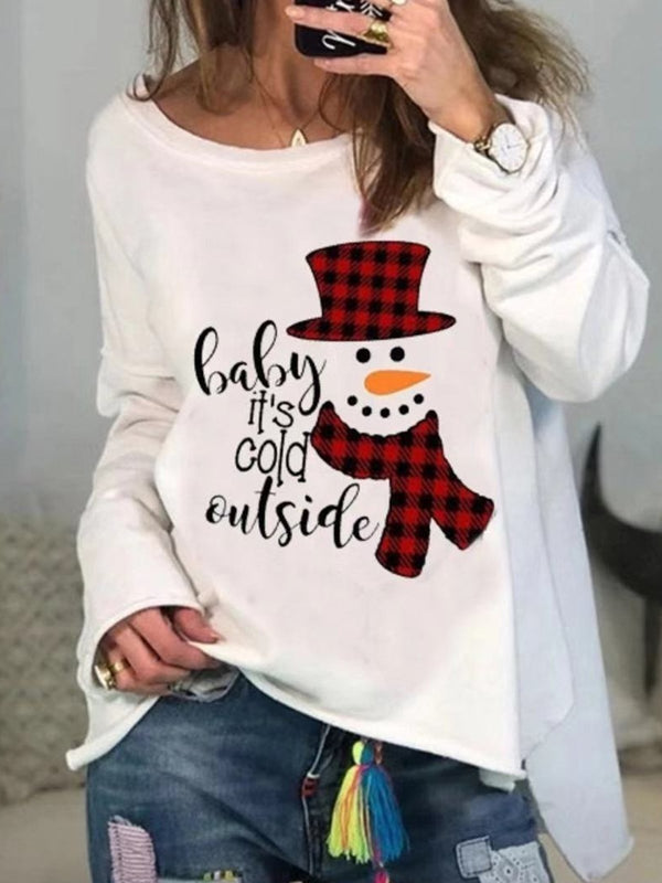 Christmas Snowman Long Sleeve Shirts & Tops