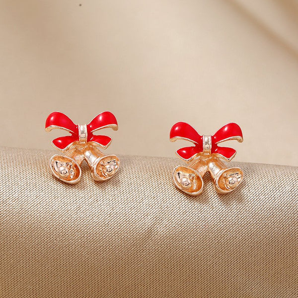 Simple Candy Color Bell Christmas Earrings