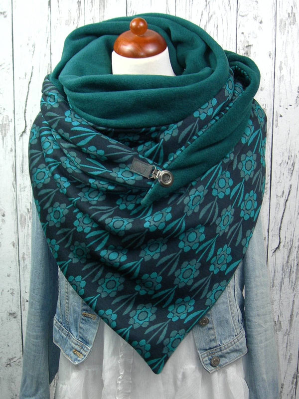 Green Casual Cotton Scarves
