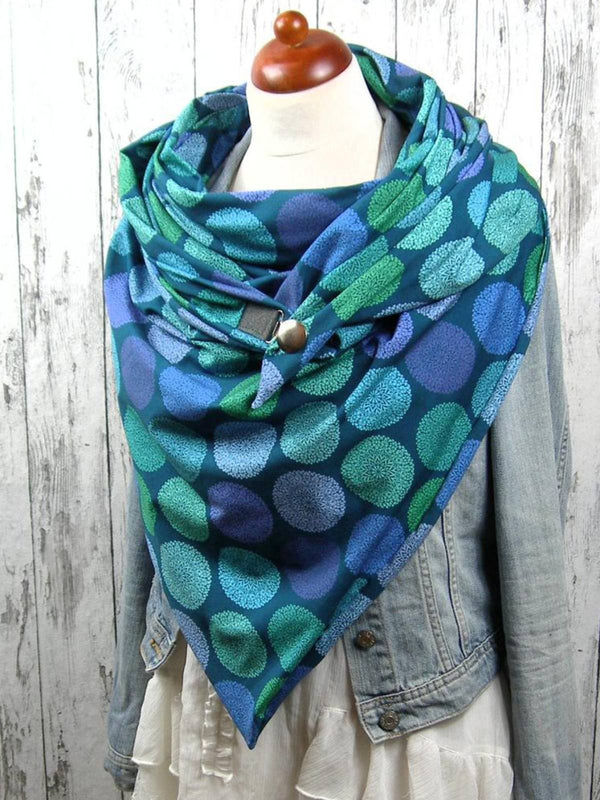 Blue Polka Dots Casual Printed Scarves