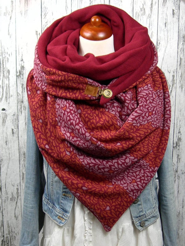 Red Printed Casual Scarves