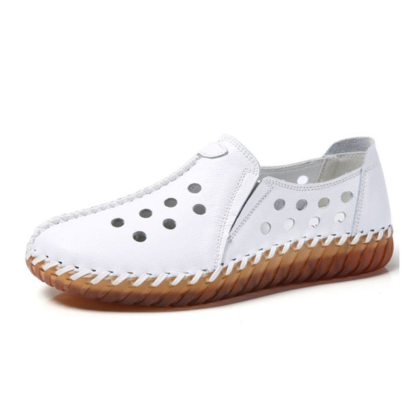 PI Clue Holiday Cowhide Leather Flats