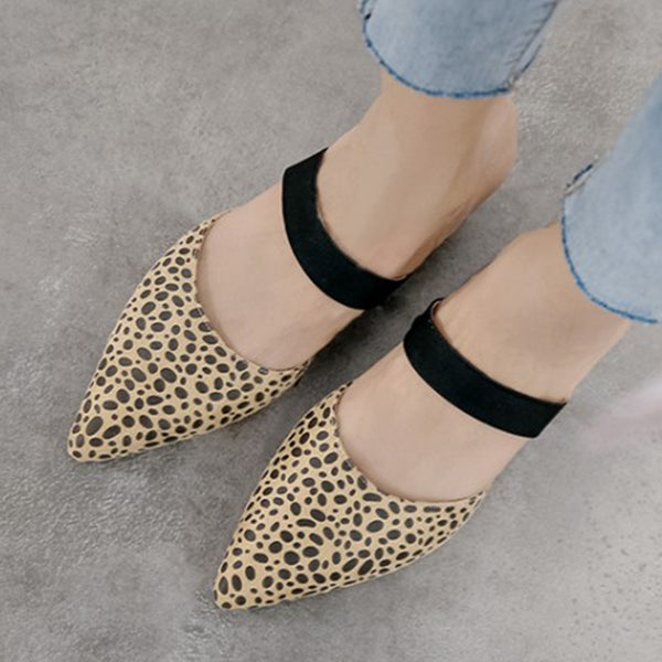 Summer/Spring Daily Chunky Heel Pointed Toe Slippers