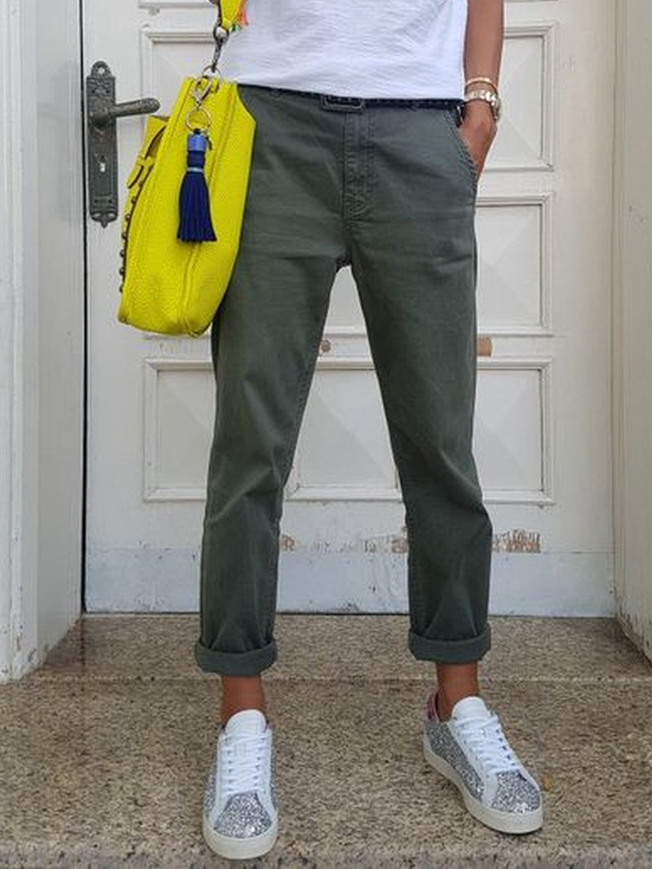 Pockets Casual Pants
