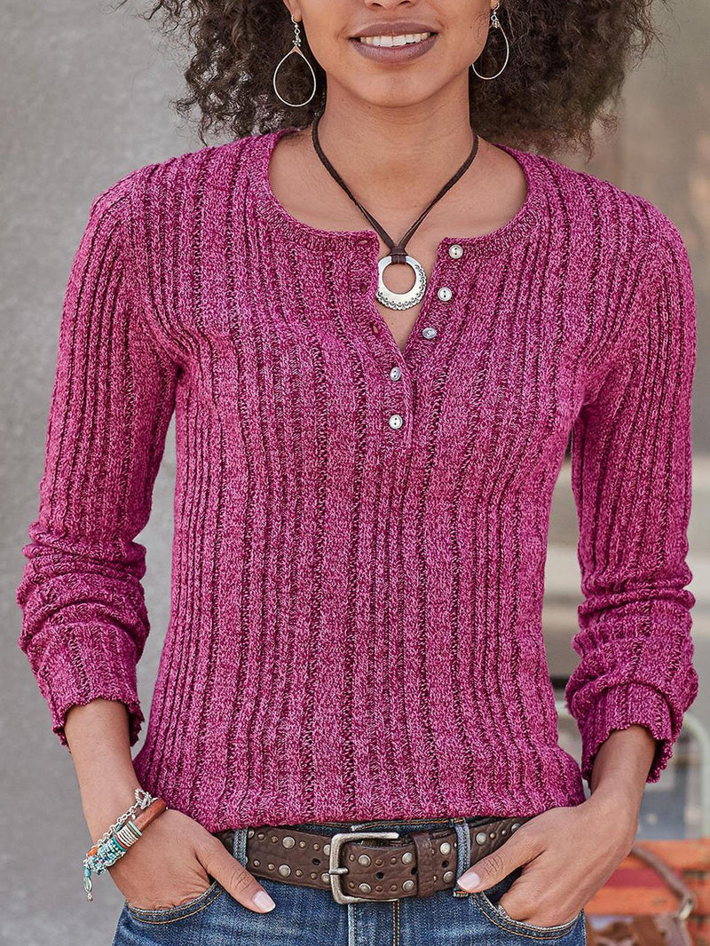 Knitted Casual Knitted Shirts & Tops