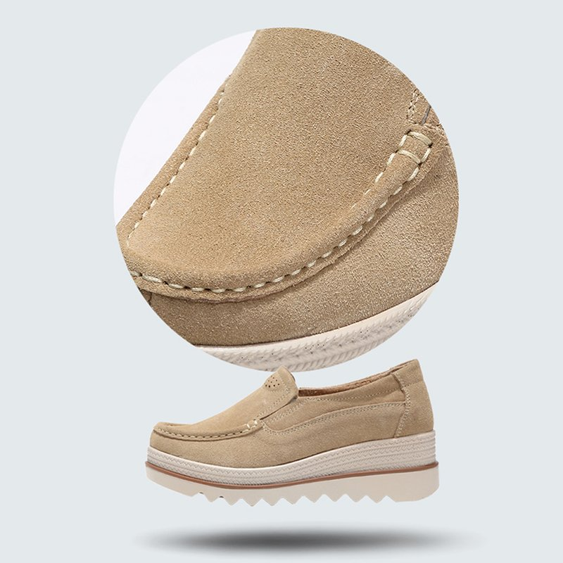 Casual Platform Slip On Suede Shoes