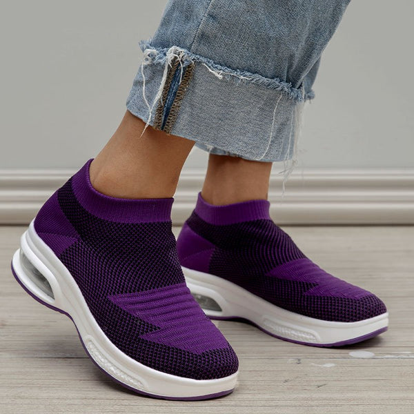 Breathable Slip On All Season Mesh Fabric Sneakers