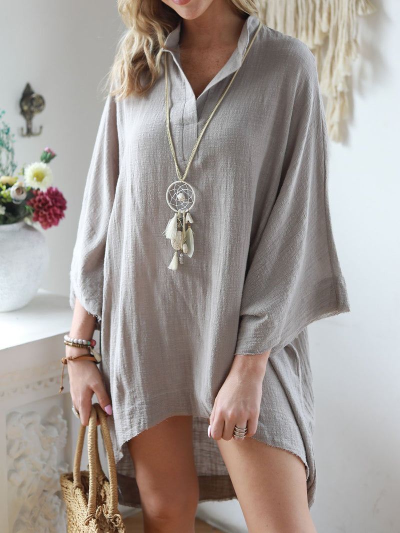 Women Summer Half Sleeve Plain Blouses