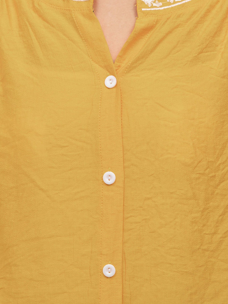 Cotton-Blend Short Sleeve Shirts & Tops