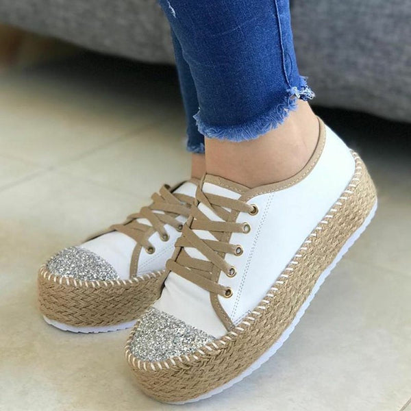Women's Casual All Season Lace Up Platform Sneakers