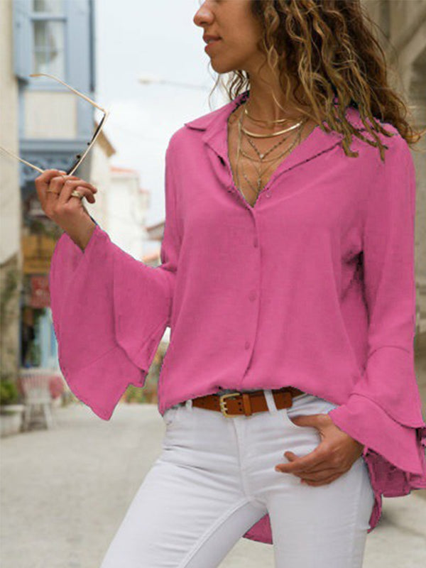 Sweet Appliqued Blouses&shirts