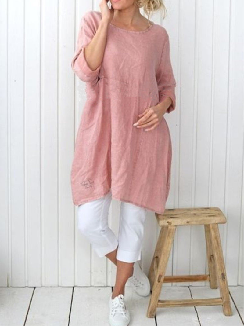 Casual Plain Long Sleeve Dress