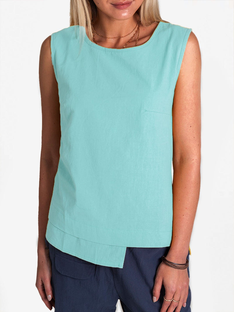 Women Summer Plain Tanks Sleeveless Casual Tops