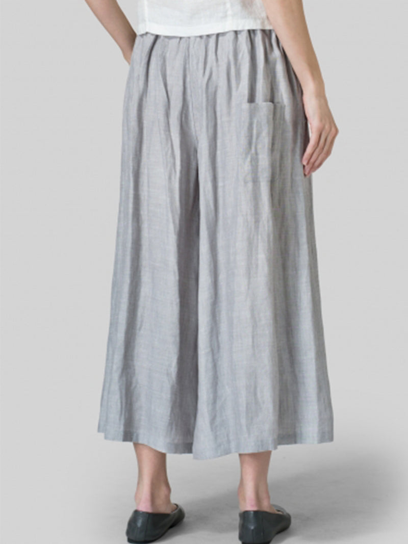 Pockets Linen Pants
