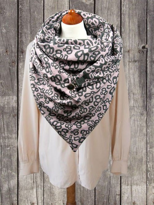 Pink Casual Scarves & Shawls