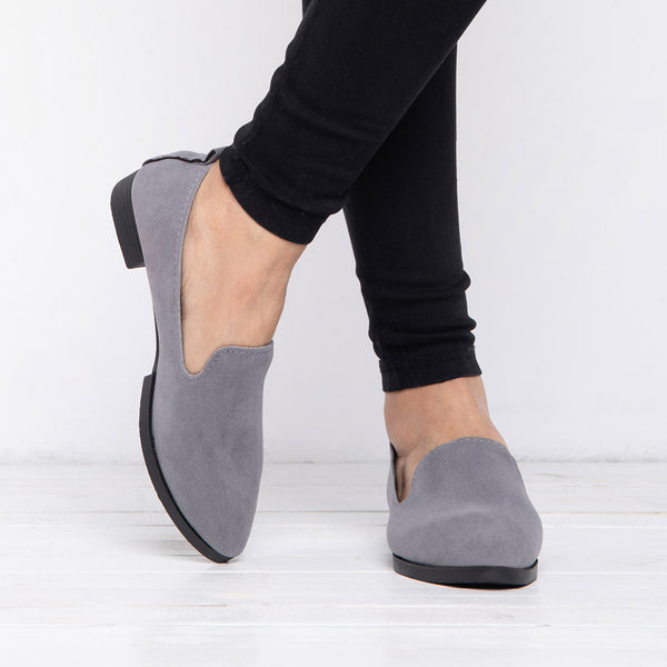 Low Heel Pointed Toe Women Flats