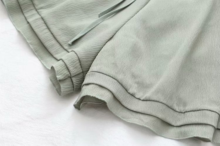 Summer Casual Solid Cotton Pants