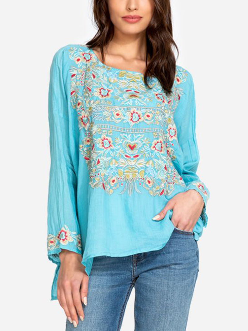 Long Sleeve Casual Cotton-Blend Shirts & Tops