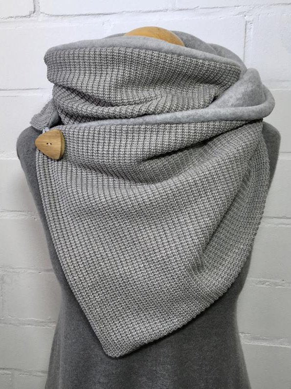 Gray Casual Plain Knitted Scarves & Shawls