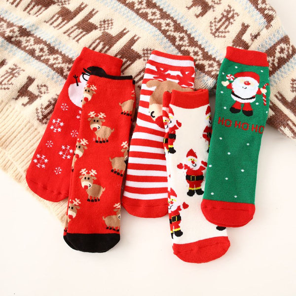 Christmas Thick Terry Cotton Towel Socks