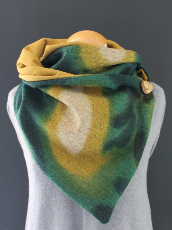 Wrap Scarves & Shawls Button Triangle Scarf