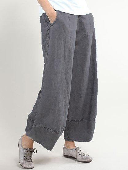 Linen Casual Basic Pants