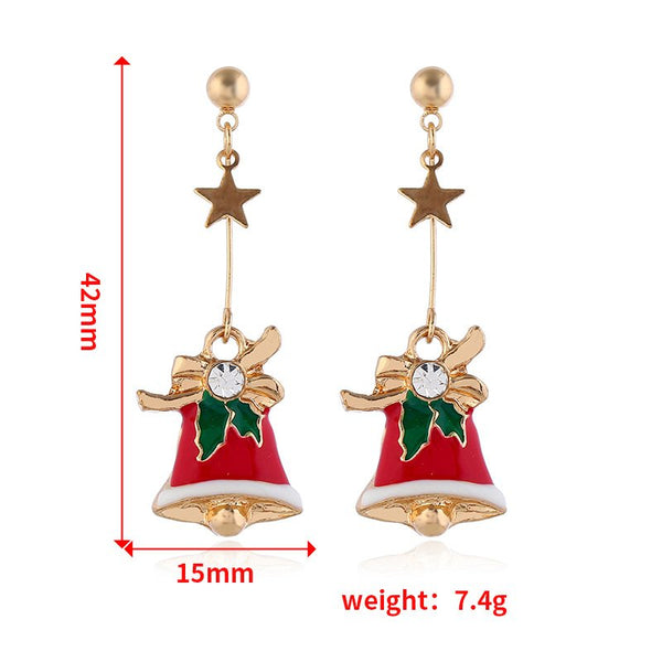 Simple Stylish Bells Christmas Earrings