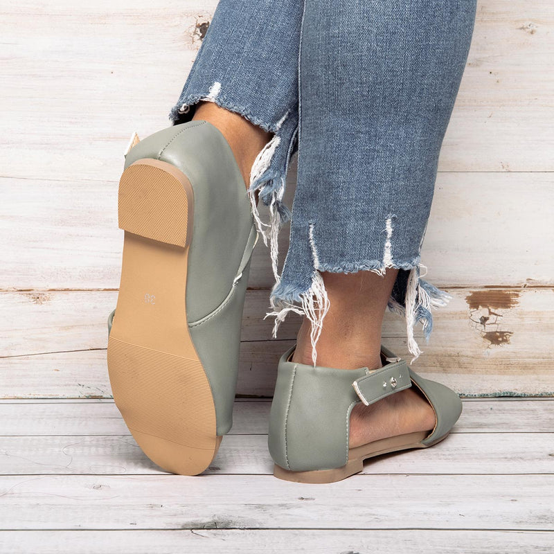 Women open toe closed back sandal Shoes