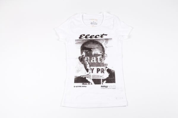 G-Star Raw: Womens's Short-Sleeve White Elect Tee
