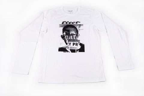 Agnés B Homme: Men's Long-Sleeve Elect Tee  / White