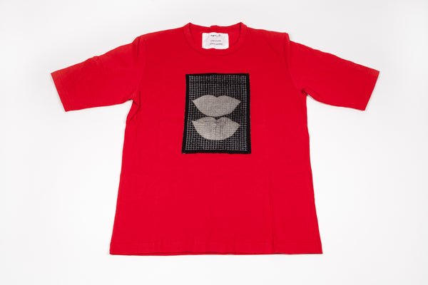 Agnés B: Red Double Lips Tee