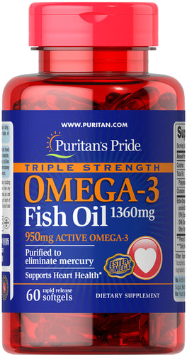 Puritan's Pride Fish Oil Omega 3 Triple Strength