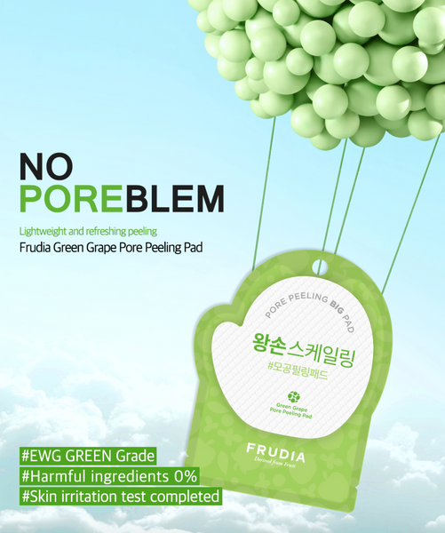 Green Grape Pore Peeling Pad | Dischetto Esfoliante con Uva