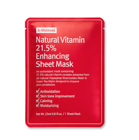 Natural Vitamin 21.5% Enhancing Sheet Mask | Maschera alla Vitamina C